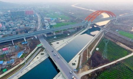 Productive Canal, South–North Water Transfer Project, China