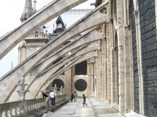Flying buttress of Notre Dame de Paris