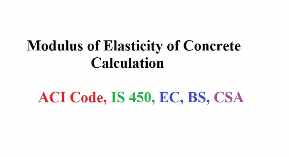 Modulus Of Elasticity Of Concrete Determination And Importance In