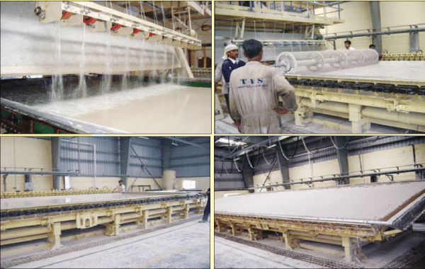Manufacture of GFRG Panels