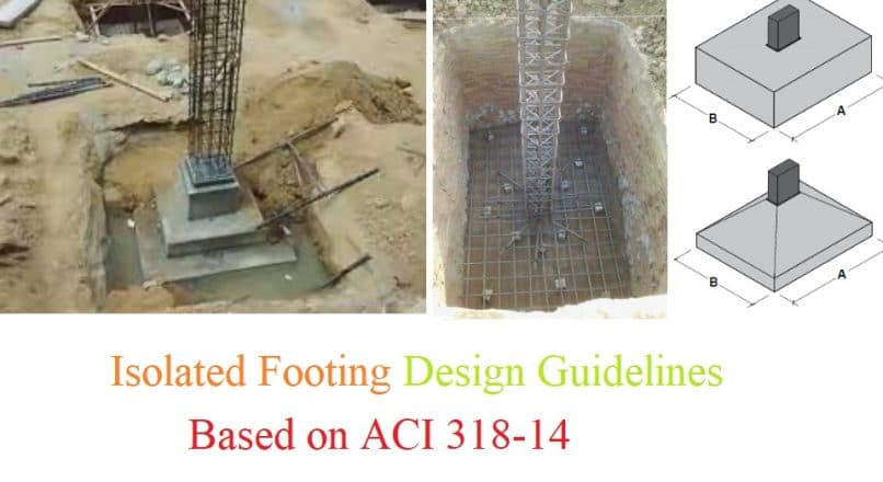 Isolated Footing Design Guidelines Based on ACI 318-14