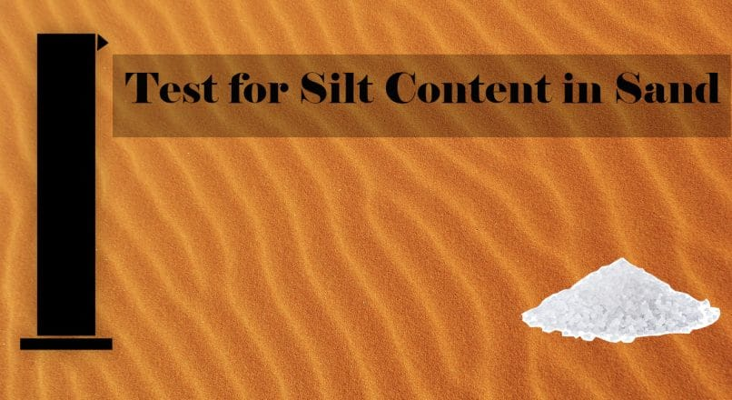 Test for Silt Content in Sand