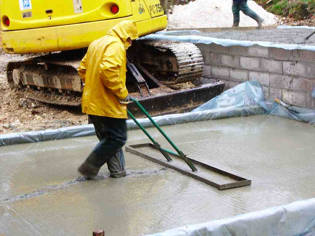 Concreting in rains
