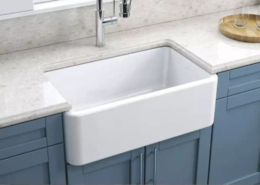 Lead Glazed Fire-clay Kitchen Sink