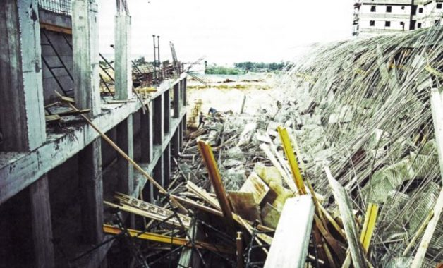 Formwork Failure Due to Concrete Overload