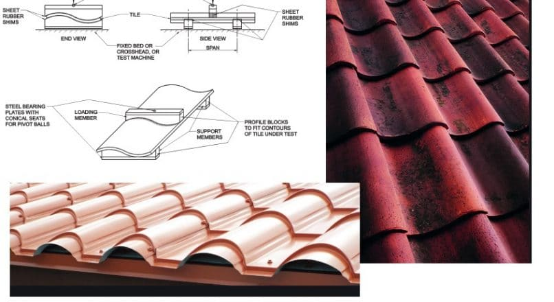 Transverse Strength Test on Roofing Tiles Based on ASTM C 1167 and IS