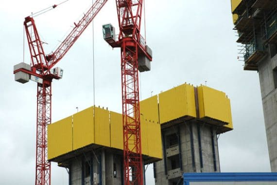 Crane Guided Climbing Formwork