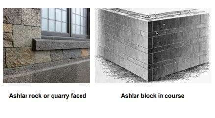 Ashlar Rock and Ashlar Block Course Masonry