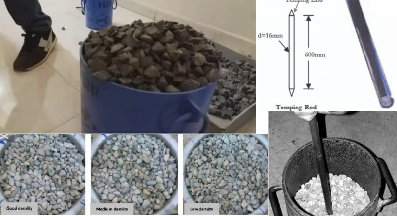 Bulk Density and Void Percentage Test for Aggregates