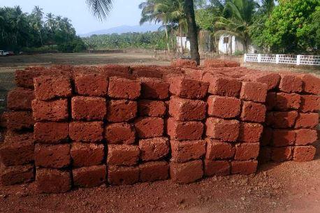 Laterite Cut to Blocks