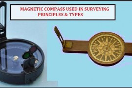 Magnetic Compass Used in Surveying -Principles & Types