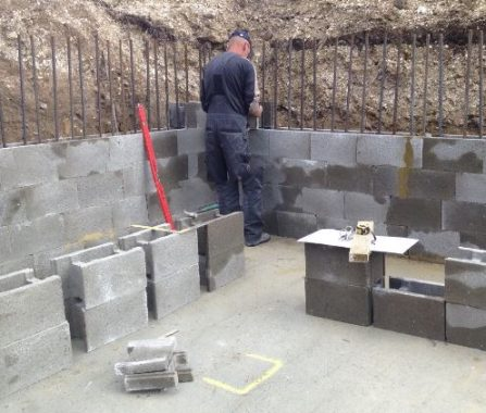 Retaining Wall Construction for Basement