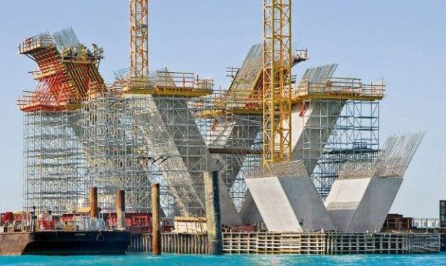 V shaped Concrete Piers