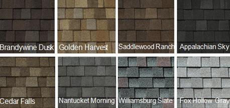 Roofing Shingles - Colour Varieties in Asphalt Shingle Type