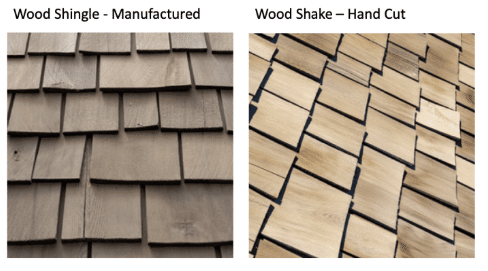 wood shake or wood shingles.