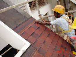 Laying Roofing Shingles