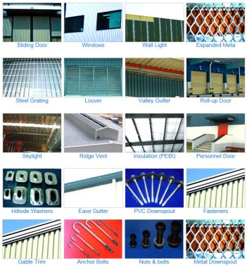 Accessories in Pre Engineered Steel building