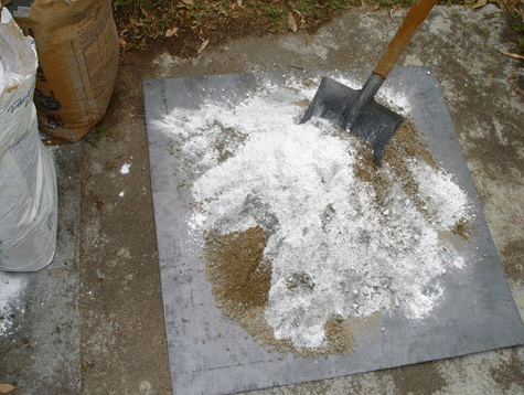 Mixing of Lime mortar