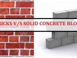 Difference Between Red Bricks and Solid Concrete Blocks
