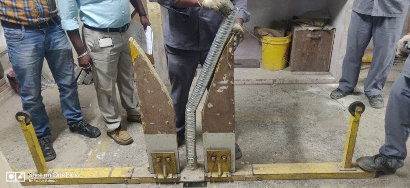 Bending of Duct for workability Test