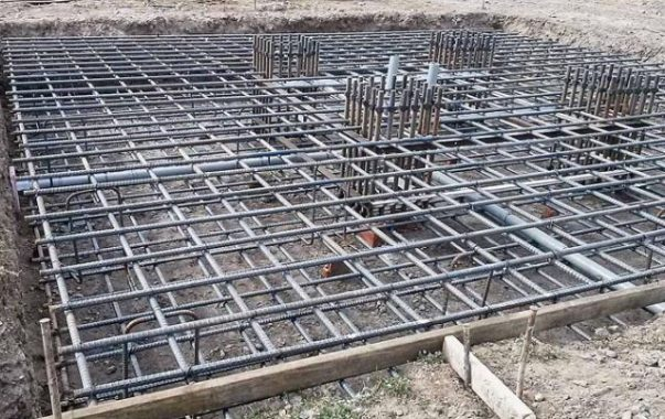 Installed Reinforcements for Raft or Mat Foundation