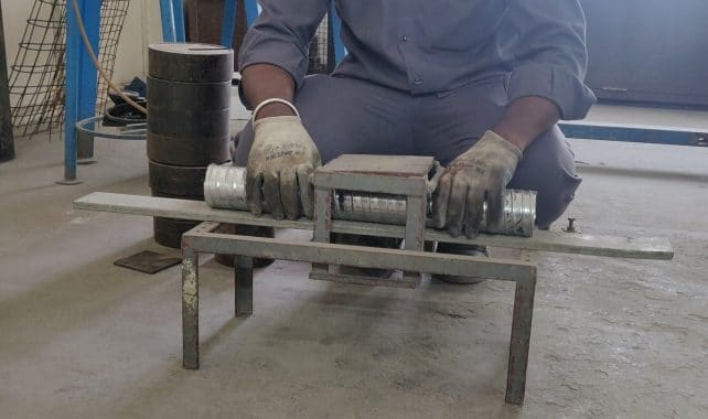 Fixing of loading plate for Transverse load test