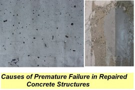 8 Causes of Premature Failure of Repaired Concrete Structures