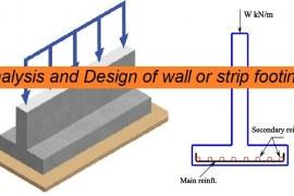 Analysis and Design of RC Wall Footing Based on ACI 318-19