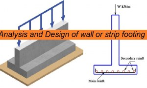 Analysis and Design of RC Wall Footing Based on ACI 318-19