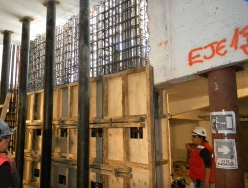 Steel Bars are Placed to Build A new Wall After Previous one Demolished