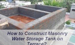 How to Construct Overhead Masonry Water Tank? [PDF]