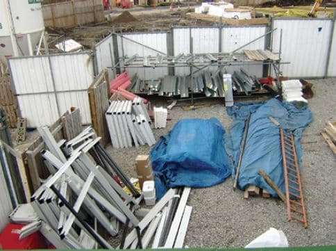 Storing and Protecting Materials at Construction Site