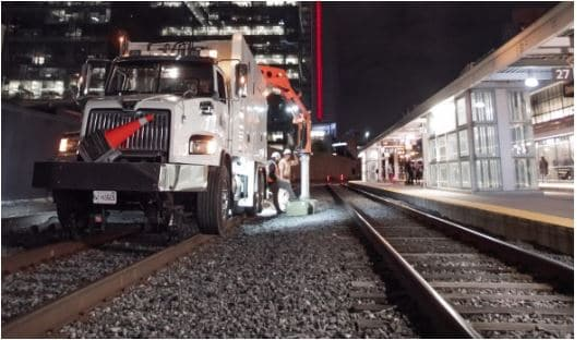 Suction Excavation in Rails; Image Courtesy: OX-Equipment