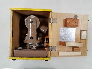 Transit Theodolite Safely Stored Inside Its case