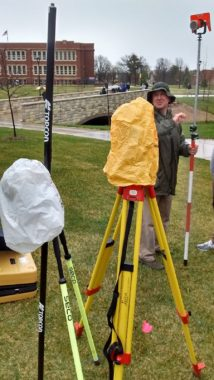Total Station Surveying - Instrument Covered due to Rain