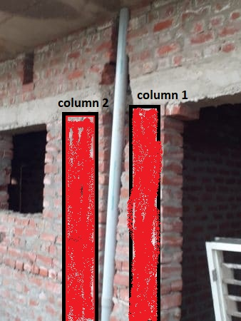 make new two column and cut beam