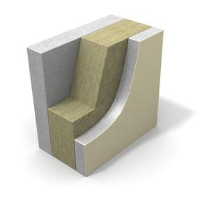 Cross-section of Concrete Sandwich board